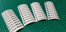 Uniform Name Labels 50mm x 10mm 25 labels
